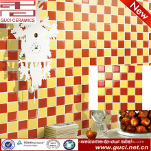 china supply red and yellow bathroom decorative mosaic look ceramic tile