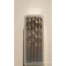 Foret HSS avec différents matériaux Boîte en plastique M35 DIN338