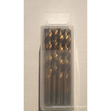 Буровое долото HSS с различным материалом M35 DIN338 Пластиковая коробка