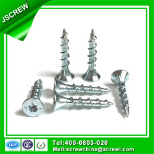 Torx Flat Head Bright Zinc Plated Drywall Screw with Logo