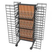 Llavero de acero cromado móvil práctico Exhibición al por menor Exhibidor de exhibición del alambre de metal para los artículos colgantes