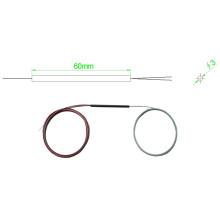 1 * 2 con acoplamiento de tubo de acero acoplador de fibra óptica Fbt