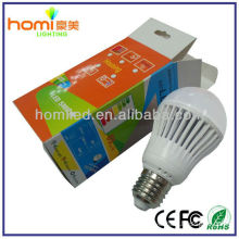Promotion! Popular! 5W 7W 9W 12W LED Lighting plastic Bulb with CE RoHS Certified SMD PC bulb Warm White & White E27 Base