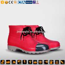 CE Steel Toe and Sole PVC men red rain boots & safety PVC gum boots