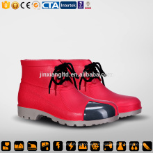 CE стали ноги и подошвы ПВХ мужчин красный дождь сапоги и безопасности ПВХ десен сапоги