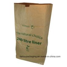 Бумажный мешок с нейтральным коричневым литром