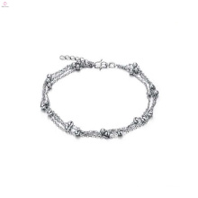 2018 modern jewelry 7~8'' white gold plated chain slave anklets designer anklet
