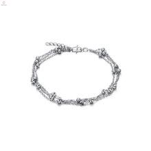 2018 jóias modernas 7 ~ 8 '' banhado a ouro branco cadeia tornozeleira escravo designer tornozeleira