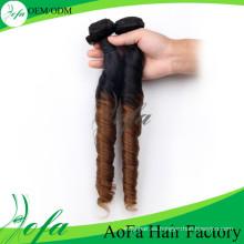 Gradient Fashion Spring Curl Virgin Extensión del cabello humano