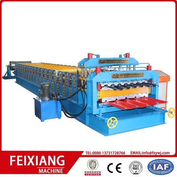 Steel Roof Panel Dubbelskikt Roll Forming Machine