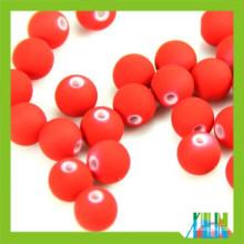 jewelry plastic red rubber beads round toho beads