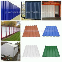 Anti-Corrosin Green PVC Corrugated Exterior Wall Material Wall Panel