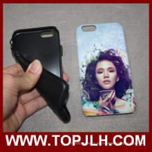 3D 2 en 1 doble protección sublimación teléfono caso para iPhone 7 Plus