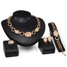 Conjuntos de jóias de moda de ouro de metal chunky (c-xsst0060)