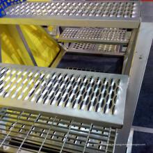 Placa antideslizante perforada de acero inoxidable para escaleras