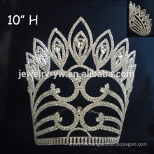 High Quality crystal cancer ribbon sign tiara crown cancer crown with crystal