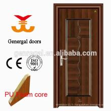 Portes intérieures remplies de mousse isolante thermique