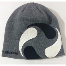 Tampão de malha de impressão personalizada Beanie bordado O chapéu quente de inverno