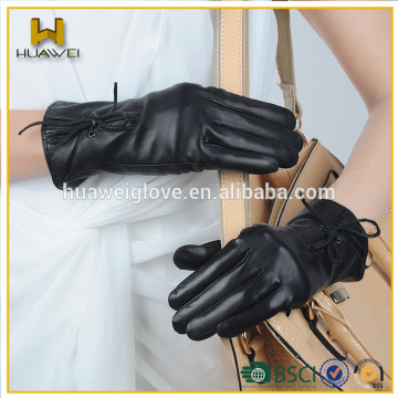 promotion winter lambskin leather gloves with custom logo