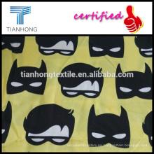 venta caliente personalizado impresión mancha tejido tela de algodón para ropa de dormir