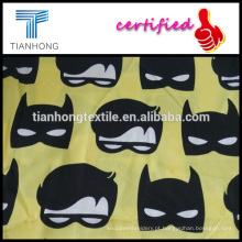 mancha de impressão personalizada de venda quente tecer tecidos de algodão para roupa de noite
