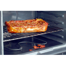 NonStick Toaster Oven Liner Easily Cuts To Fit , Black Color Sheet With Round Corner