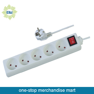 5 Outlet Power Strip and Power Outlet  with Individual Switch