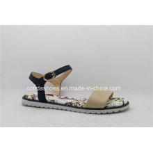 Neue Art- und Weisekomfort-flache lederne Dame Sandals