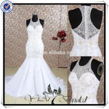 RQ052 bordado lindo último vestido de casamento vestido de noiva de design especial