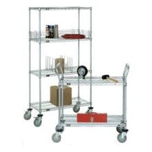 Chariot à métaux réglable pour ateliers et usines