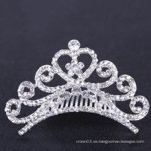 Tiaras nupciales de la boda Corona Rhinestone peines del pelo