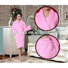 2015 hot sale terry fleece women bathrobe