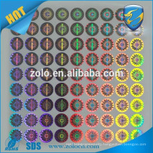 ZOLO top selling PET Custom 3d Hologram Sticker, Integrated hologram label
