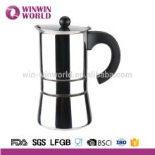 Pot à café expresso moka en acier inoxydable, 2 tasses