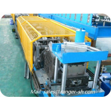 Color steel sheet door frame roll forming machinery