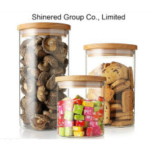 Tarro de vidrio, tarro de comida, lata de almacenamiento de cocina con sello hermético