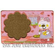 Bear Cook Embroidered Coaster