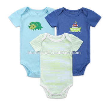 Newborn Baby Breathable Cotton Green Blue Onesie Kids Wholesale bodysuit And Jumpsuit plain romper