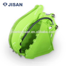 Hydraulic scrap grab grapple bucket for excavator 4-6tons