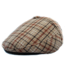 Checked Fabric Gatsby Cap/Newsboy Cap/Flat Cap/IVY Cap with Earflap