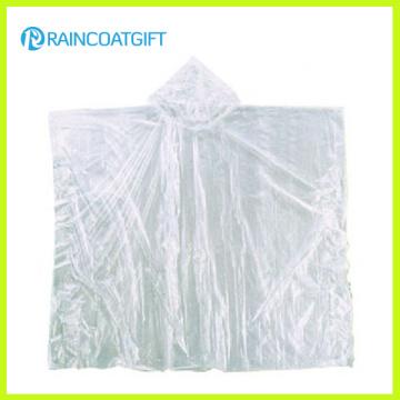 Preiswerter transparenter Regenponcho für Förderung