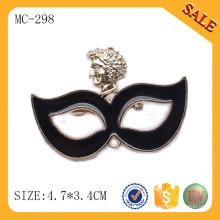 MC298 étiquette en métal personnalisée, plaque de nom de logo en alliage de mode, vêtements bon marché