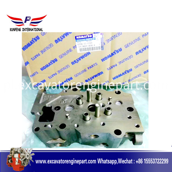 pc400-6 excavator 6d125 engine cylinder head 6151-11-1101