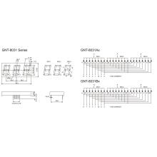 0,8 polegadas 3 dígitos 7 segmento de exibição (GNS-8031Ax-Bx)