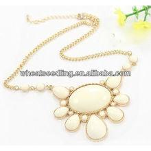 Bijoux à collier en perles chunky élégant JN01