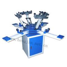4 cores 4 estações manual t camisa tela máquina de impressão