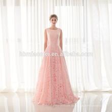 Neue Mode Damen Rosa Beiläufiges Sleeveless Party Abendgarderobe Bodenlangen Frauen Kleid Spitze Abendkleid
