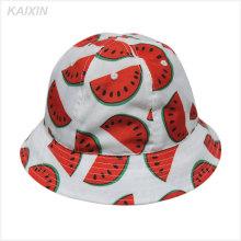 2016 diseño personalizado sandía de alta calidad sombrero barato del cubo