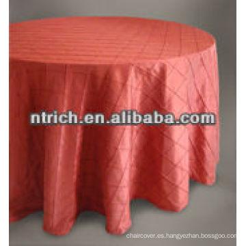 ¡Lujo!!!!!! mantel del tafetán del pintuck, lino de tabla, mantel del banquete del hotel