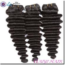 L'étiquette personnelle de cheveux indiens a conçu l'onde profonde libre d'enchevêtrement 8A 9A 10A